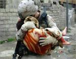 GI & dying iraqi girl baby